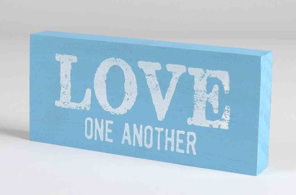 Mini Plaque: Love One Another, Blue Plaque