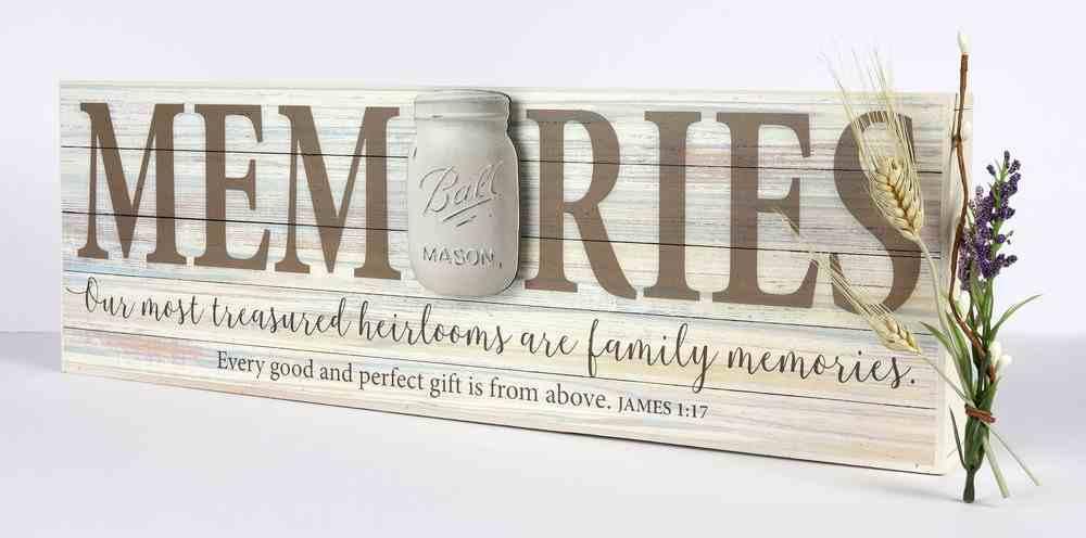 Mason Jar Word Box: Memories (James 1:17) Plaque