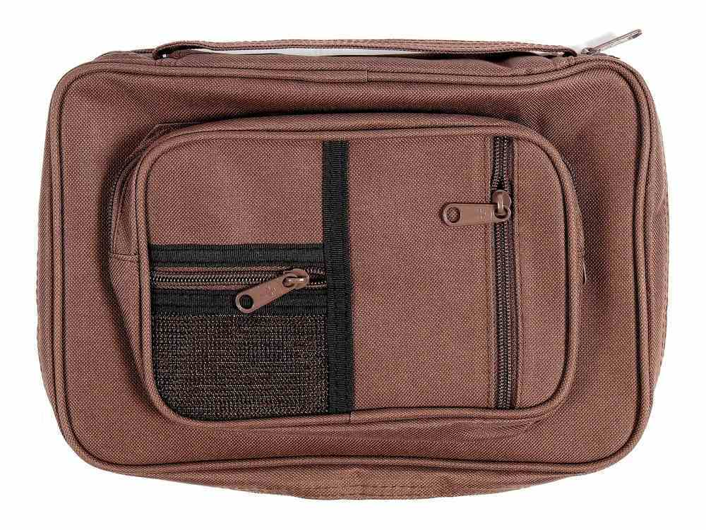 Bible Cover Brown Canvas Organiser Extra Large Includes Pens and Notepad Bible Cover