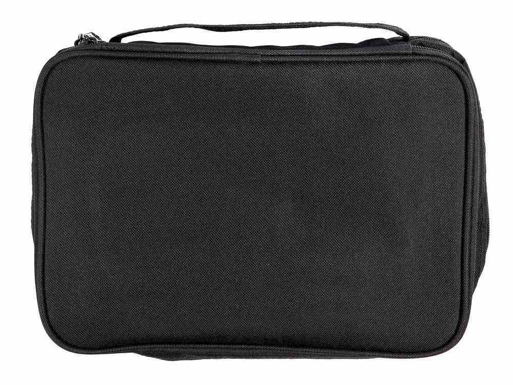 Bible Cover Black Canvas Organiser Extra Large Includes Pens and Notepad Bible Cover