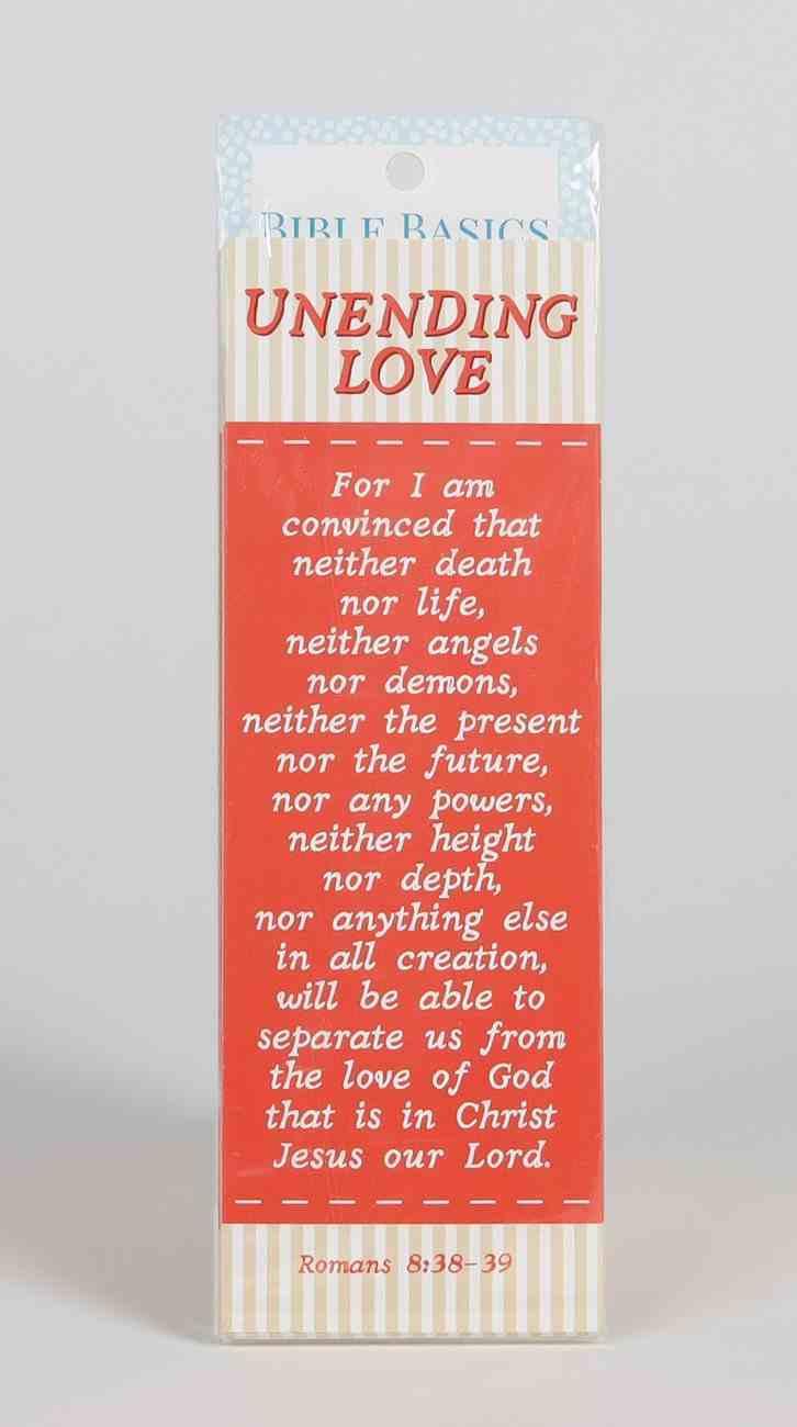 Unending Love (10 Pack) (Bible Basics Bookmark Series) Stationery