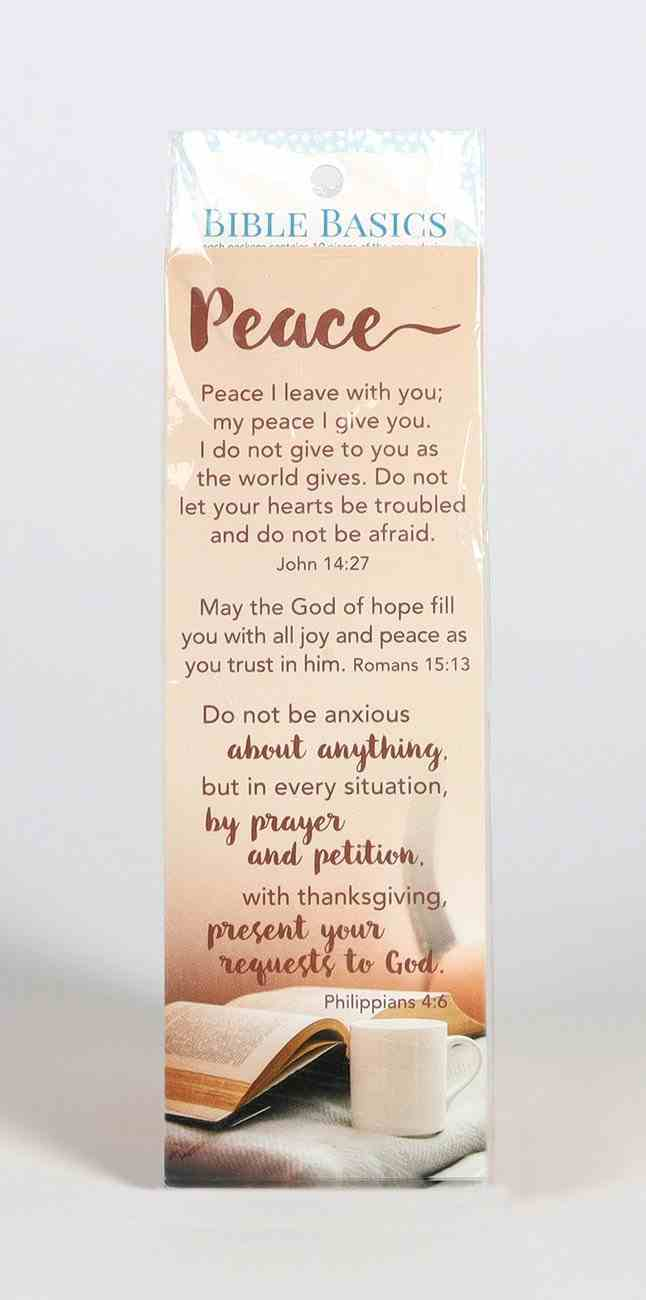 Peace (10 Pack) (Bible Basics Bookmark Series) Stationery