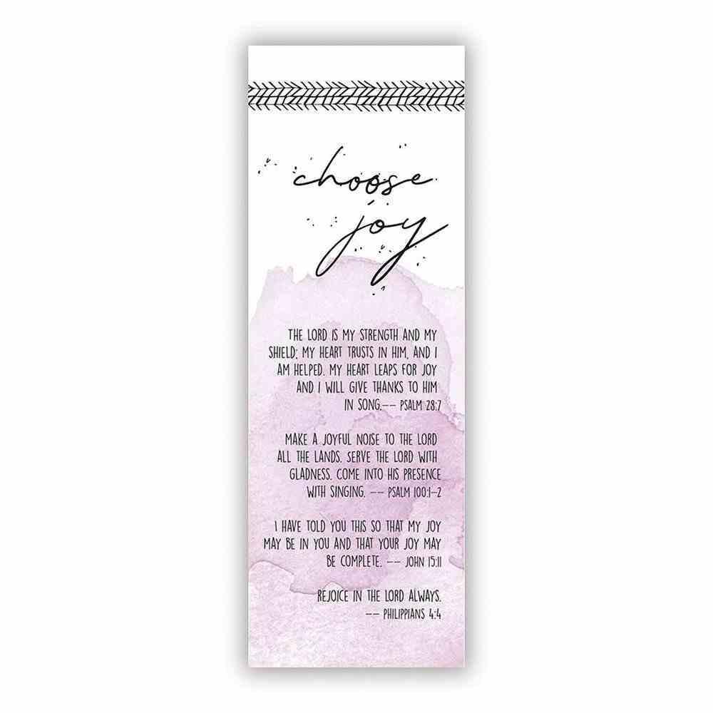 Choose Joy (10 Pack) (Bible Basics Bookmark Series) Stationery