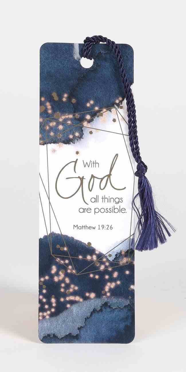 Bookmark With Tassel: All Things Possible Stationery