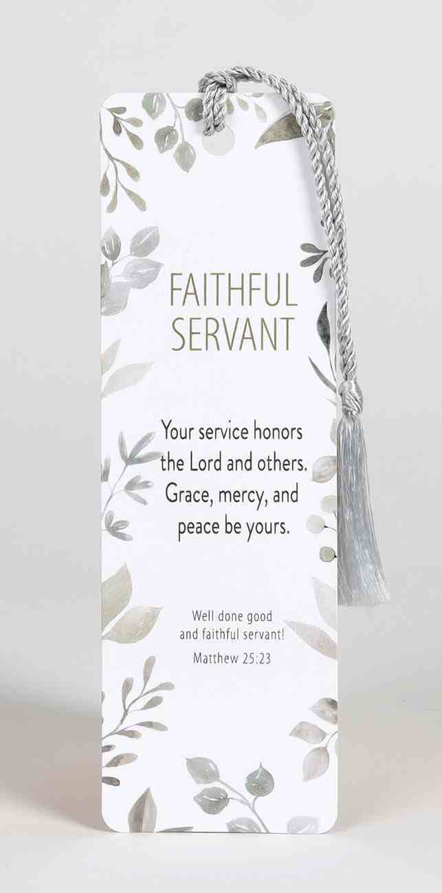 Bookmark With Tassel: Faithful Servant Stationery