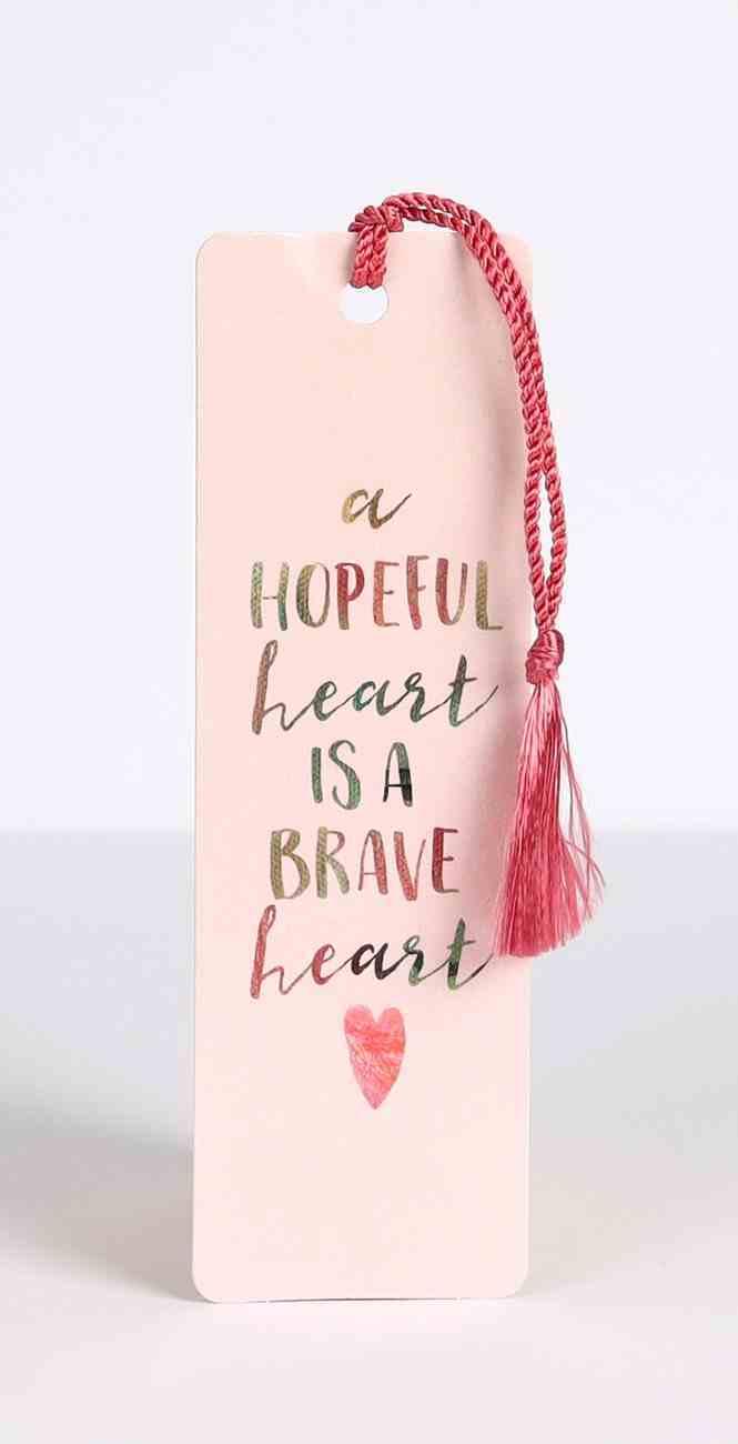 Bookmark With Tassel: Hopeful Heart Stationery