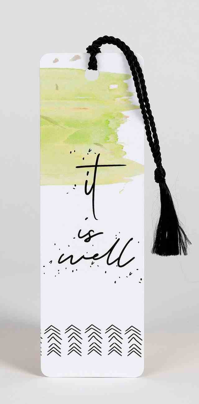 Bookmark With Tassel: It is Well Stationery