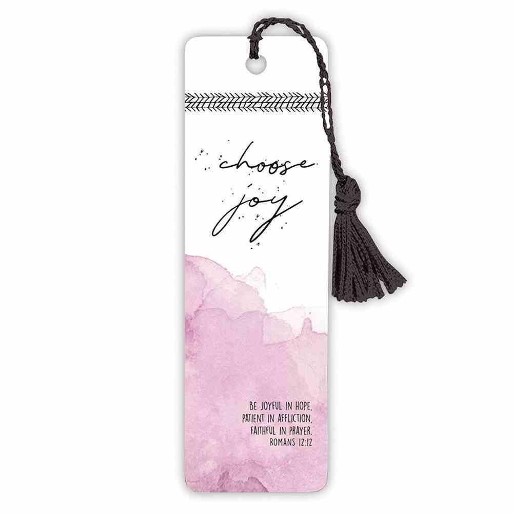 Bookmark With Tassel: Choose Joy Stationery