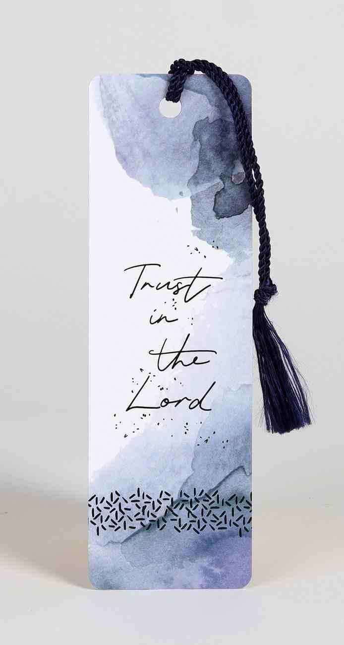 Bookmark With Tassel: Trust in the Lord Stationery