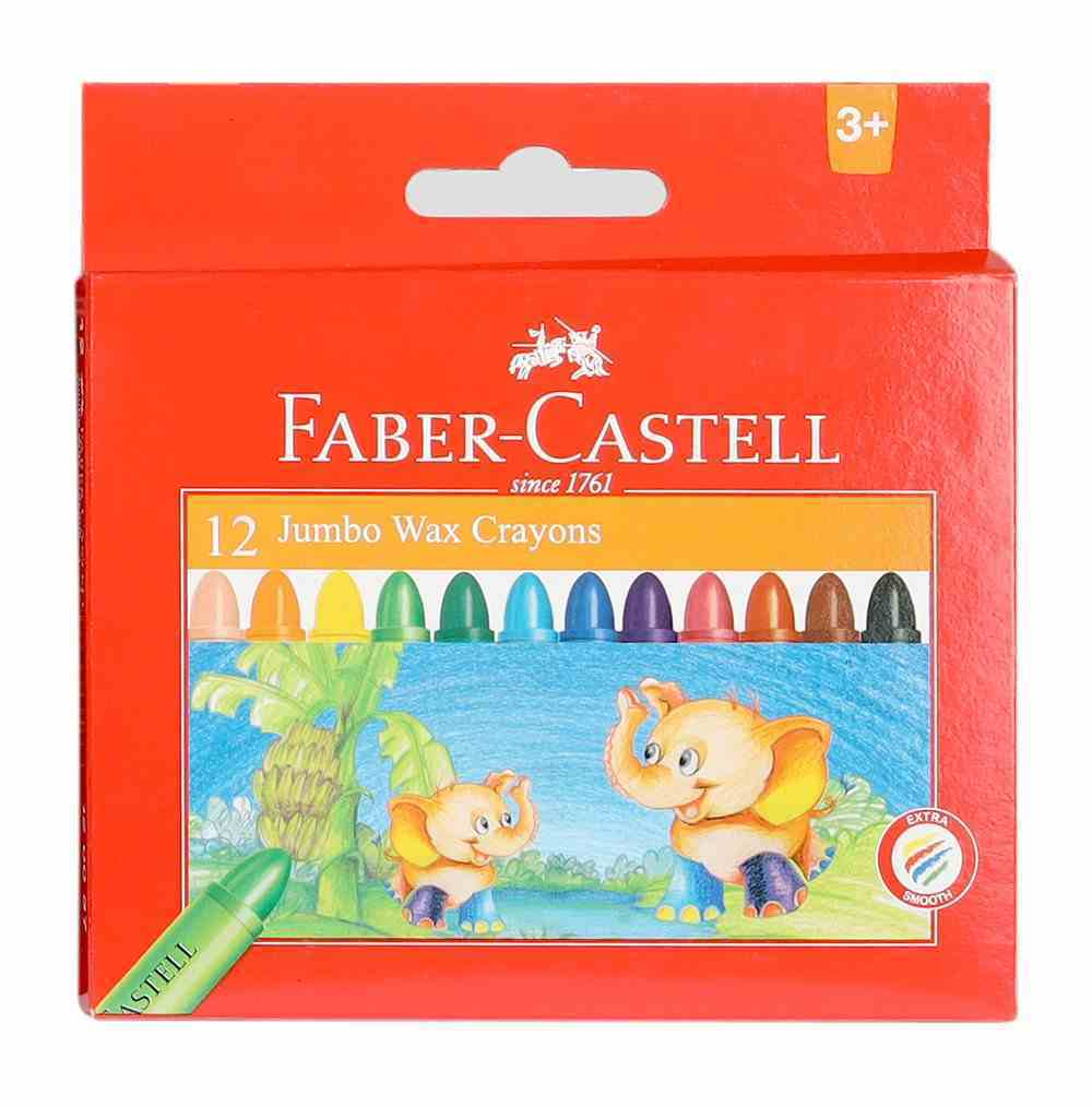 Faber-Castell Jumbo Wax Crayons Box of 12 Stationery