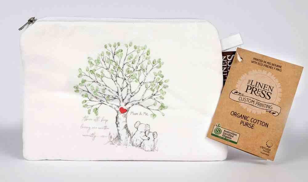 Purse Organic White (Aco Certified Organic Cotton) (Above All Keep Loving 1 Peter 4: 8) (Australiana Products Series) Homeware