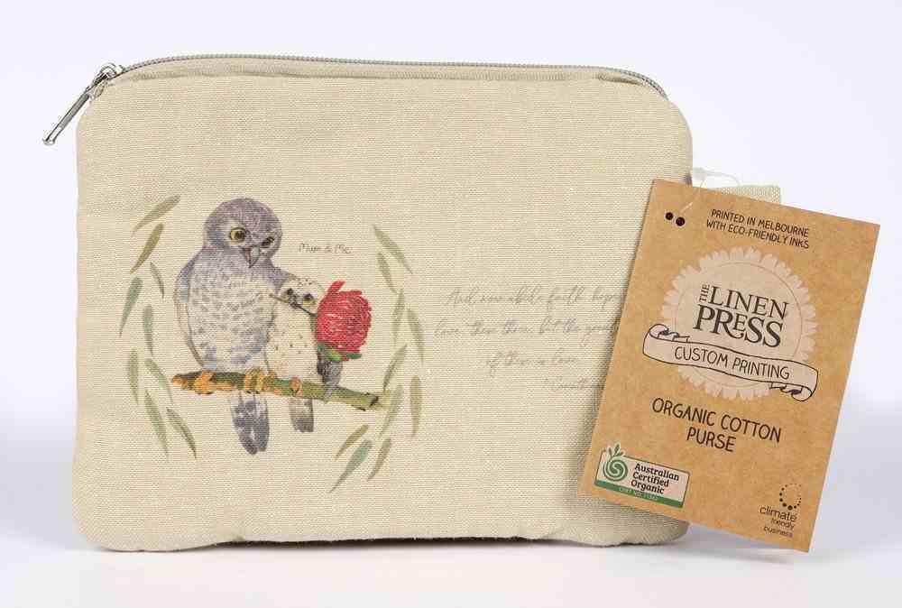 Purse Organic Beige (Aco Certified Organic Cotton) (And Now Abide 1 Cor 13: 12) (Australiana Products Series) Homeware