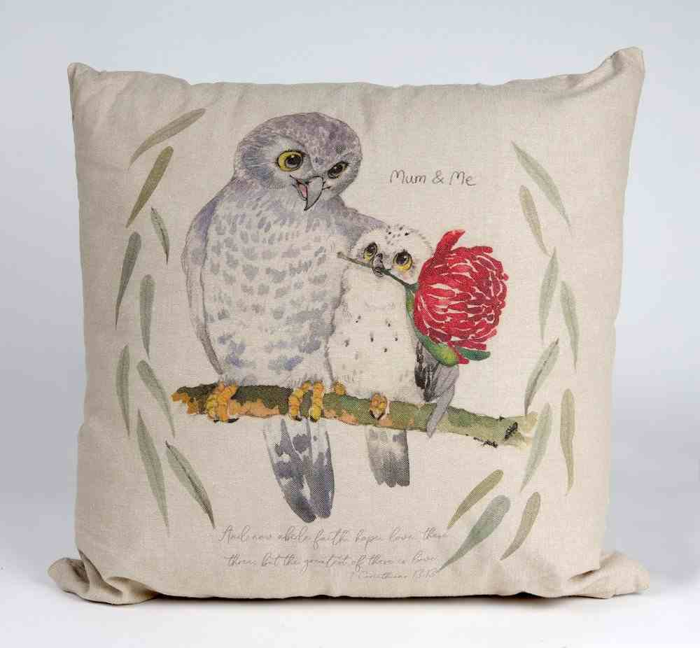 Pillow Organic Beige (Aco Certified Organic Cotton) (And Now Abide 1 Cor 13: 12) (Australiana Products Series) Homeware