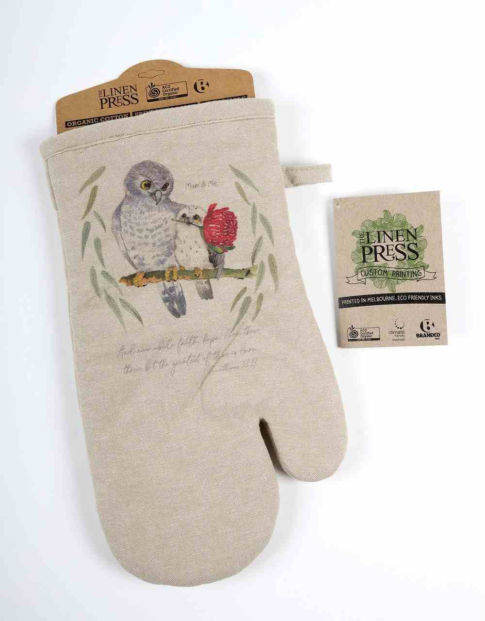 Oven Mitt Organic Beige (Aco Certified Organic Cotton) (And Now Abide 1 Cor 13: 12) (Australiana Products Series) Homeware