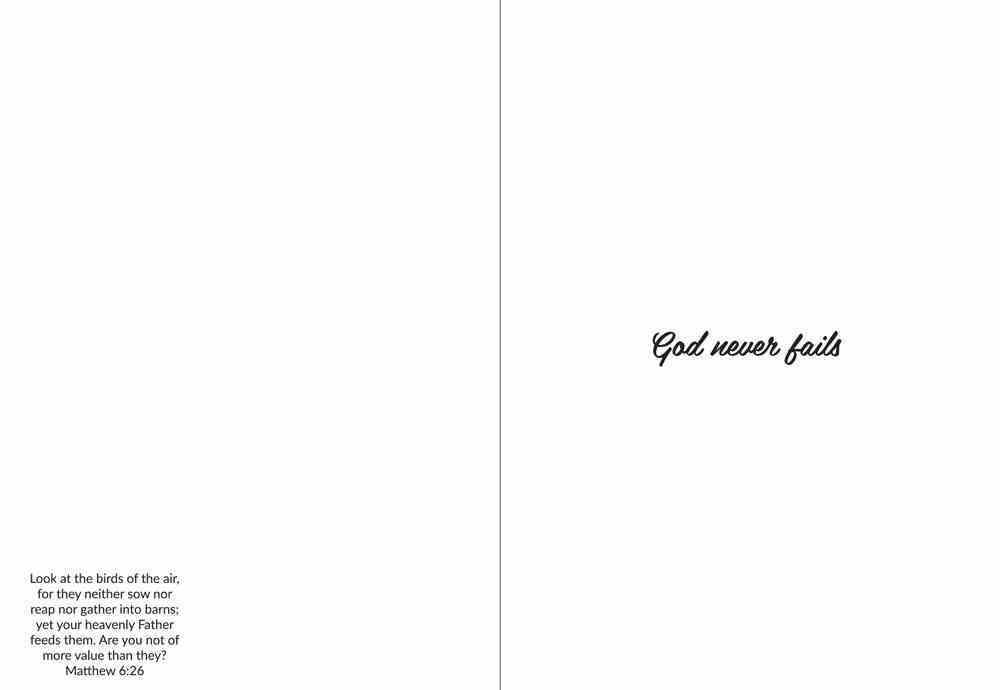 God Never Fails (Blue Wren) Cards