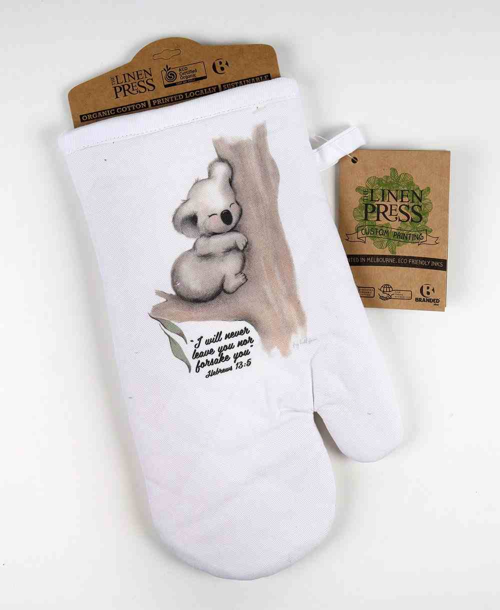 Oven Mitt White Fig Hill Farm Faith Koala Comfort (Hebrews 13: 5) (Australiana Products Series) Soft Goods