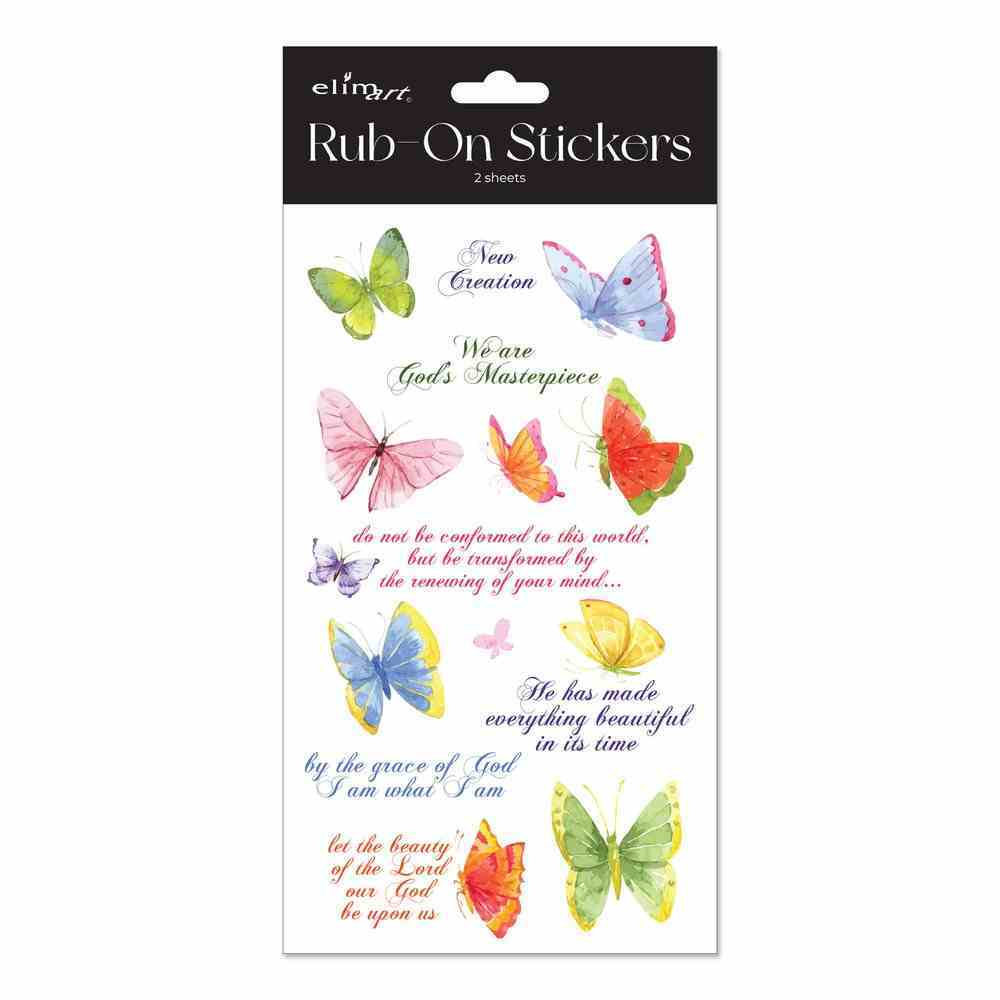 Rub on Stickers: Butterfly Series, 2 Sheets Per Pack Novelty
