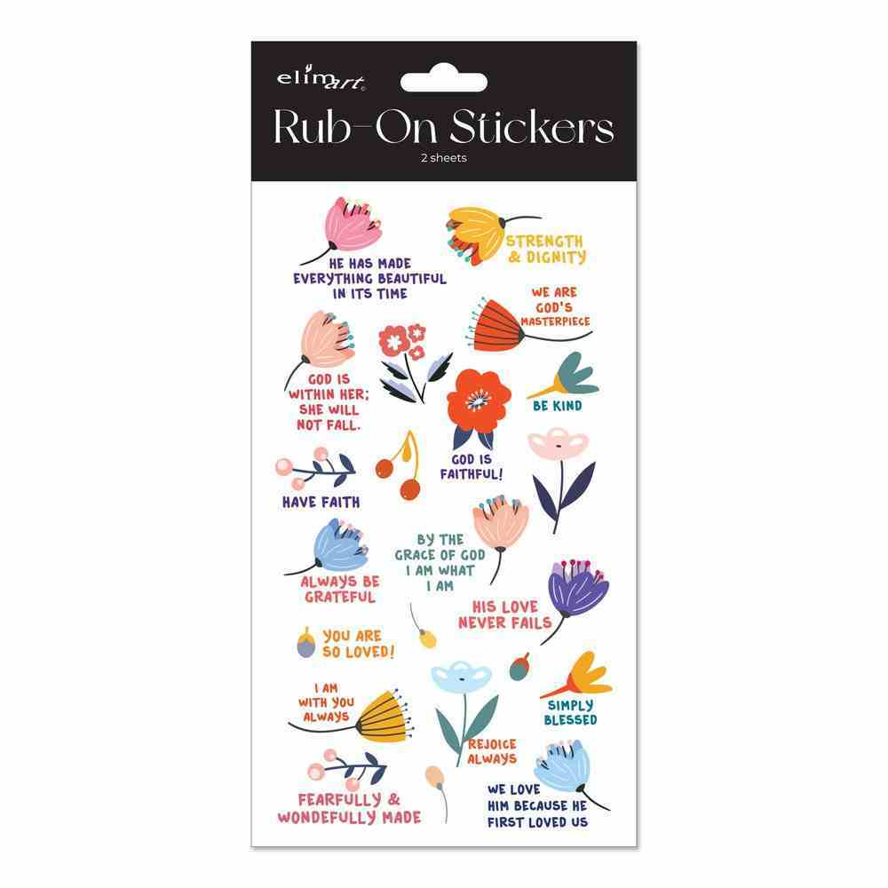 Rub on Stickers: Flower Series, 2 Sheets Per Pack Novelty
