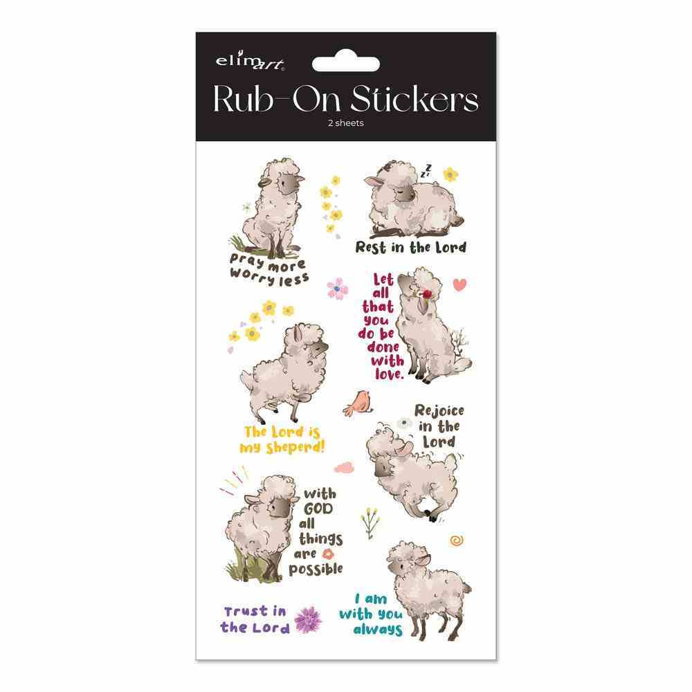Rub on Stickers: Lamb Series, 2 Sheets Per Pack Novelty