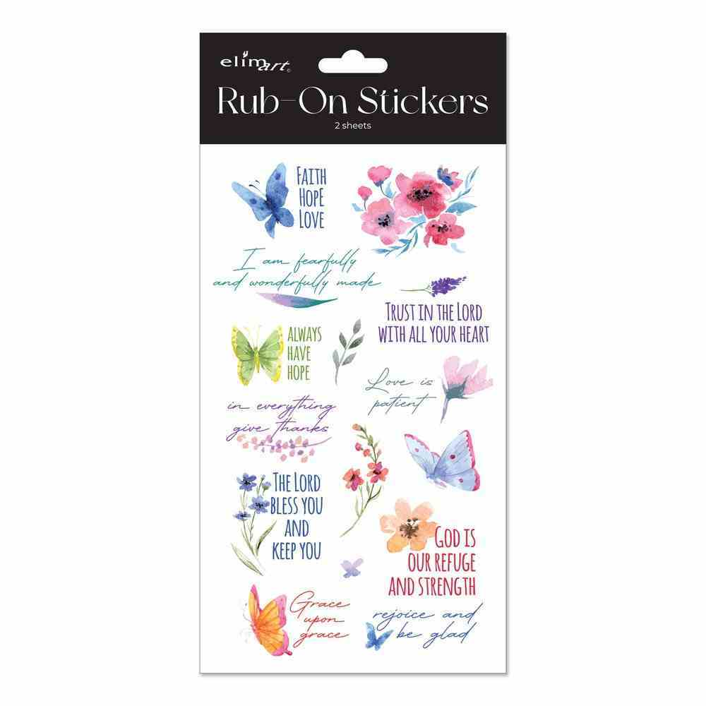 Rub on Stickers: Watercolour Series, 2 Sheets Per Pack Novelty