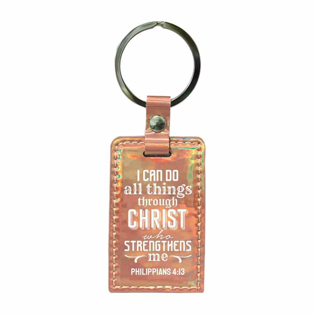 Iridescent Keyring: I Can Do All Things Through Christ, Philippians 4:13 Jewellery