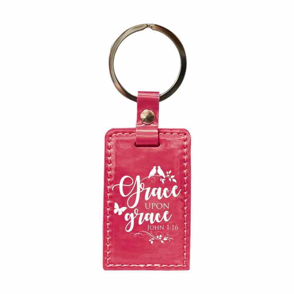 Iridescent Keyring: Grace Upon Grace, John 1:16 Jewellery