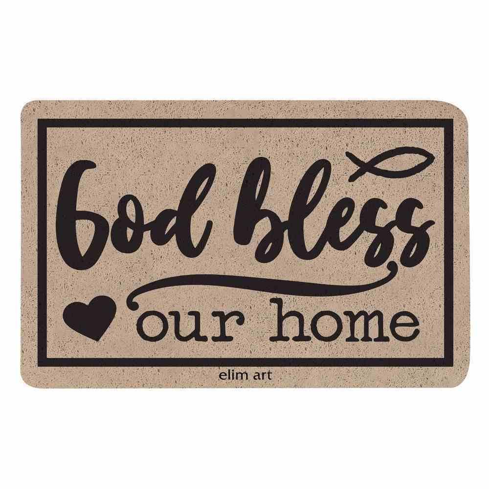 Floor Mat: God Bless Our Home Homeware