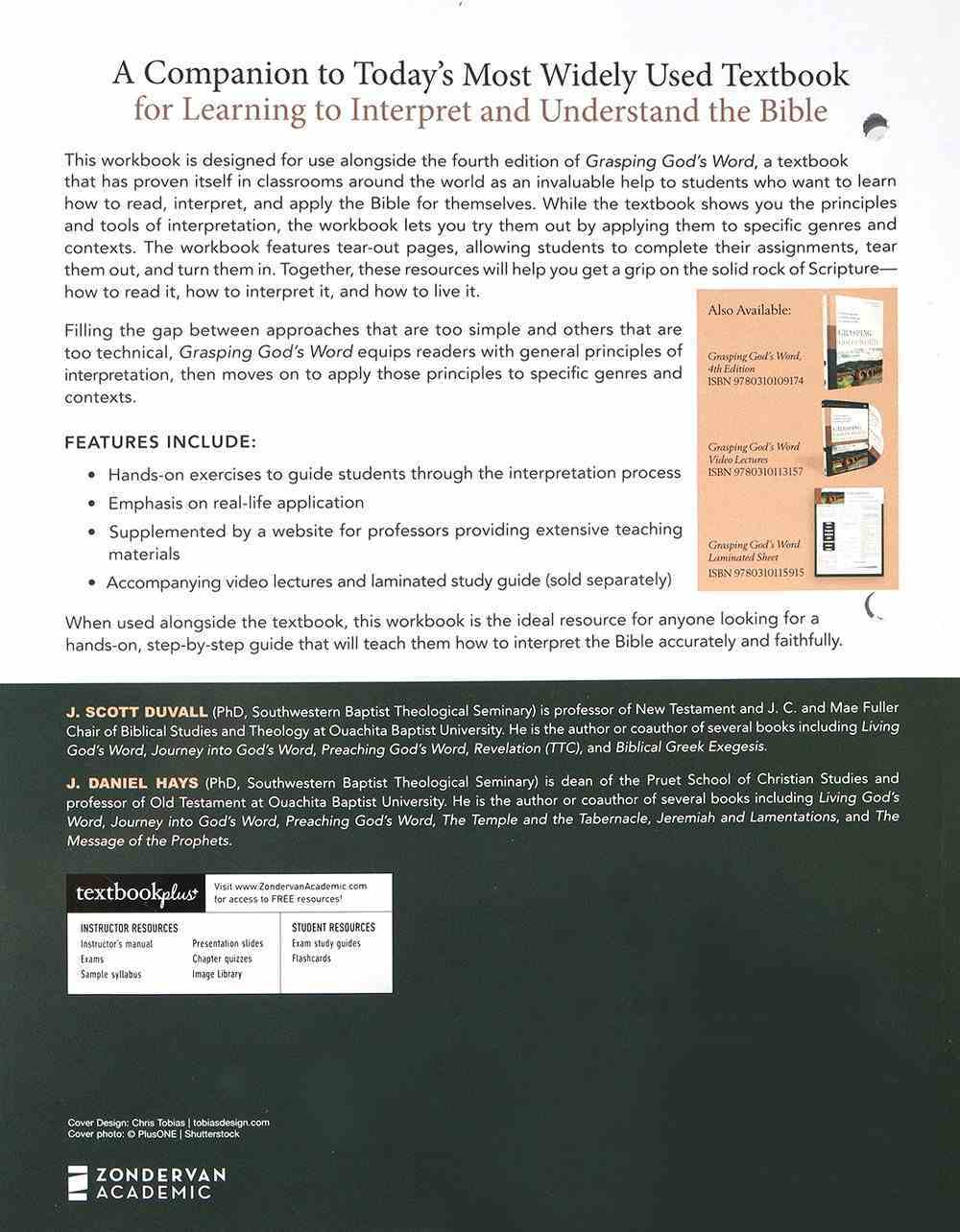 Grasping God's Word: A Hands-On Approach to Reading, Interpreting, and Applying the Bible (4th Edition Workbook) Paperback