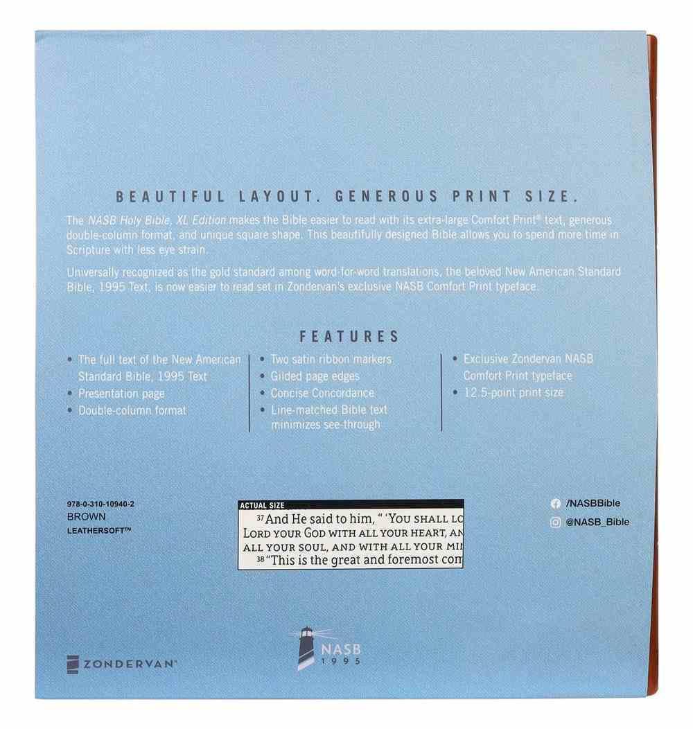 NASB Holy Bible Xl Edition Brown 1995 Text Premium Imitation Leather
