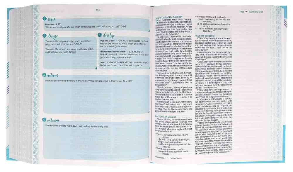 NIV Verse Mapping Bible For Girls Hardback