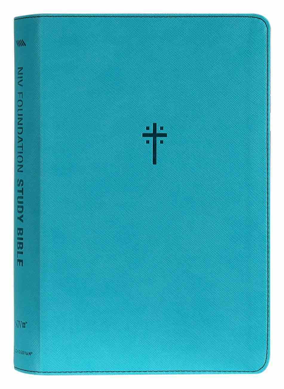 NIV Foundation Study Bible Teal (Red Letter Edition) Premium Imitation Leather