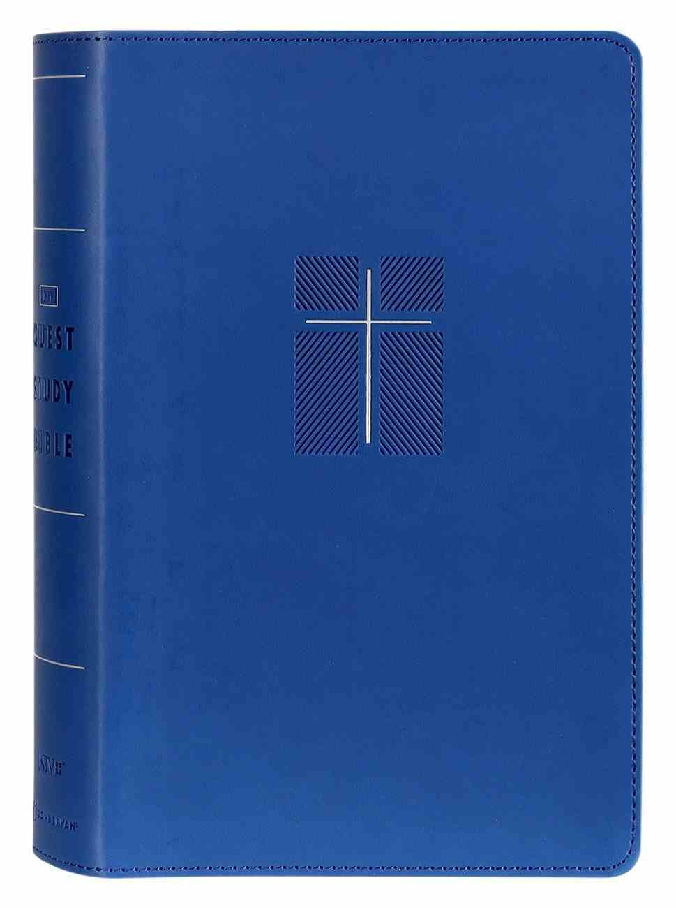 NIV Quest Study Bible Personal Size Blue Thumb Indexed Premium Imitation Leather