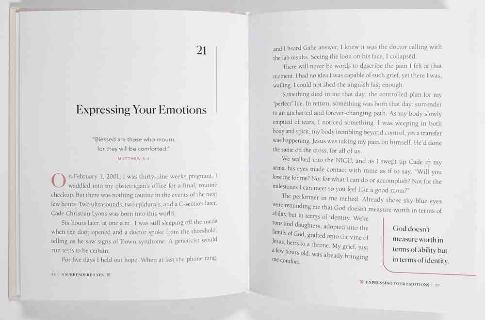 A Surrendered Yes: 52 Devotions to Let Go and Live Free Hardback