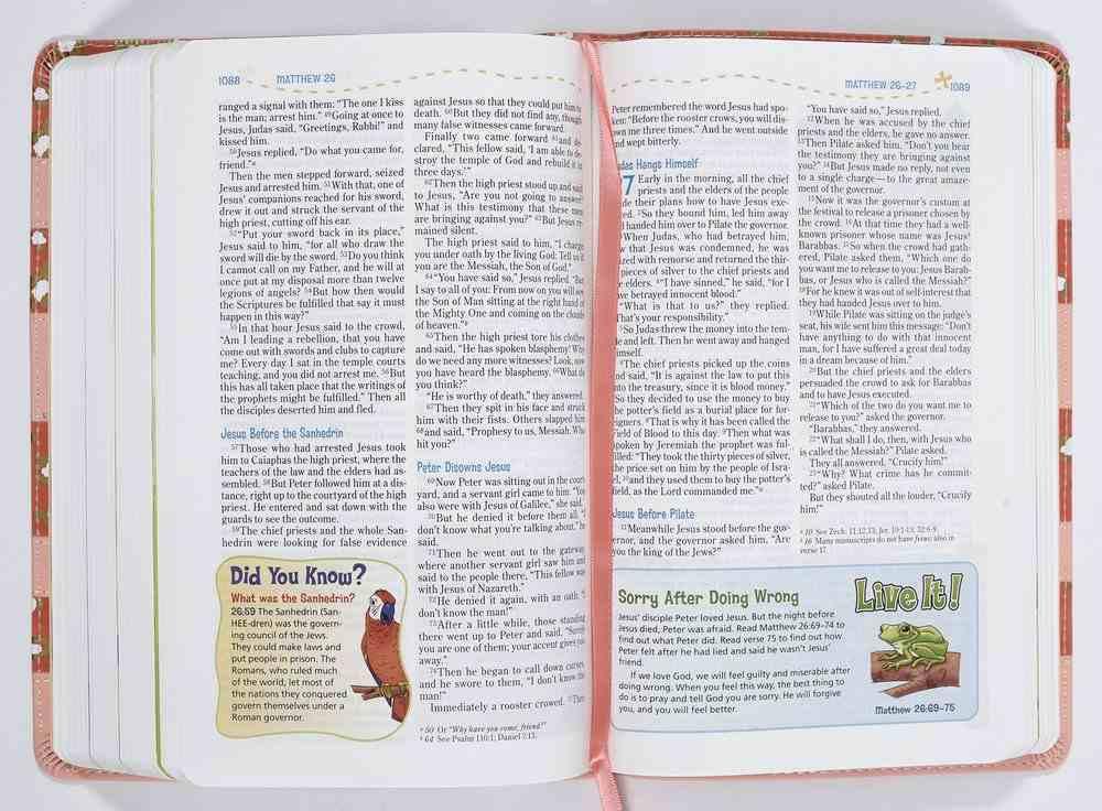 NIV Adventure Bible Coral (Black Letter Edition) Premium Imitation Leather
