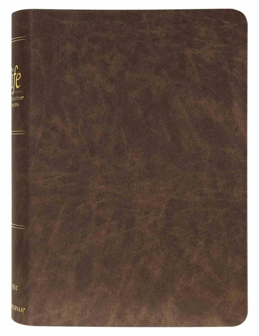 NIV Life Application Study Bible Brown Thumb Indexed (Red Letter Edition) (3rd Edition) Bonded Leather