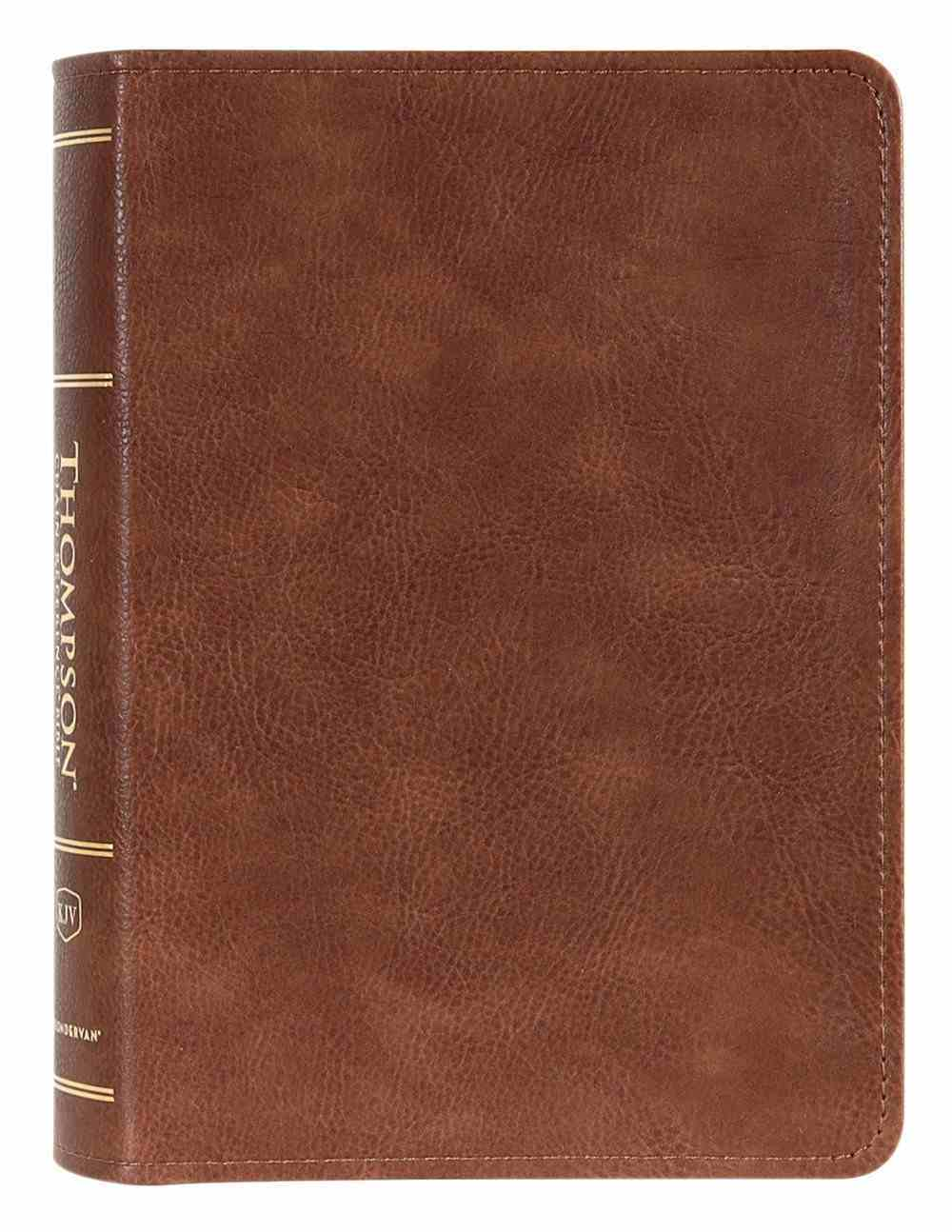 KJV Thompson Chain-Reference Bible Handy Size Brown (Red Letter Edition) Premium Imitation Leather