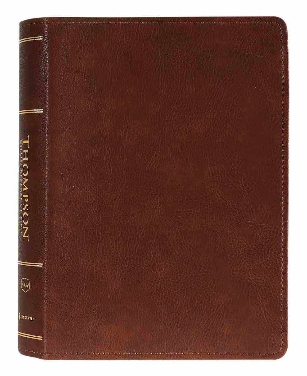 NKJV Thompson Chain-Reference Bible Brown (Red Letter Edition) Premium Imitation Leather