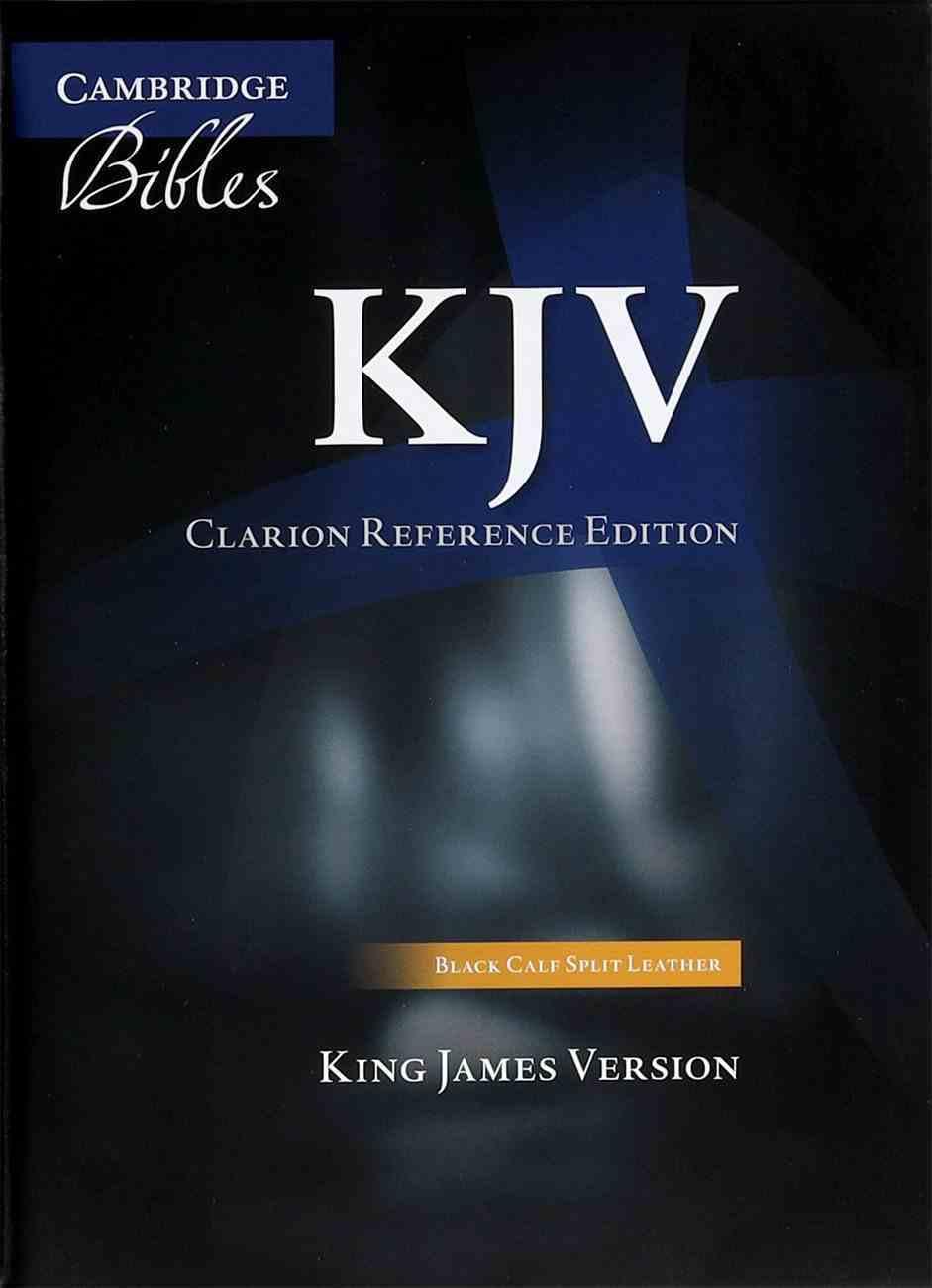 KJV Clarion Reference Black Calf Split Genuine Leather