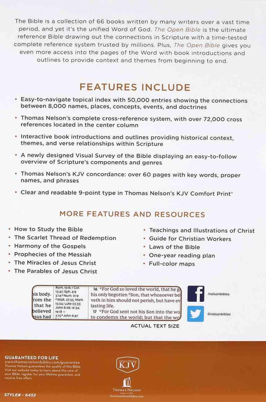 KJV Open Bible Brown (Red Letter Edition) Hardback