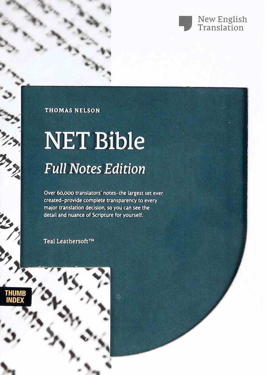 NET Bible Full-Notes Edition Teal Indexed Premium Imitation Leather