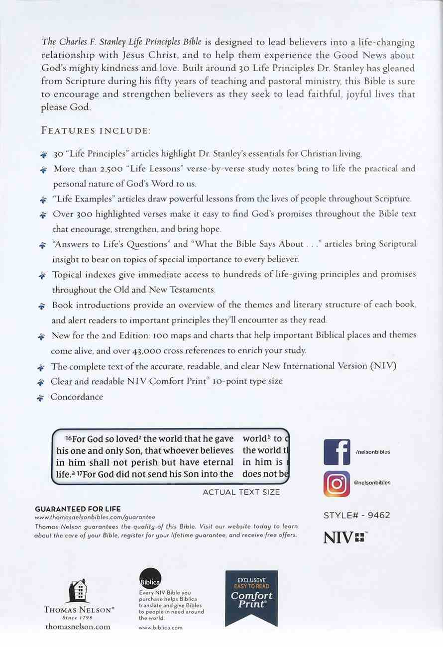 NIV Charles F Stanley Life Principles Bible (2nd Edition) Hardback