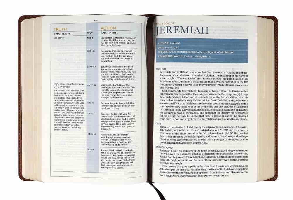 KJV Spirit-Filled Life Bible Brown (Red Letter Edition) (3rd Edition) Premium Imitation Leather