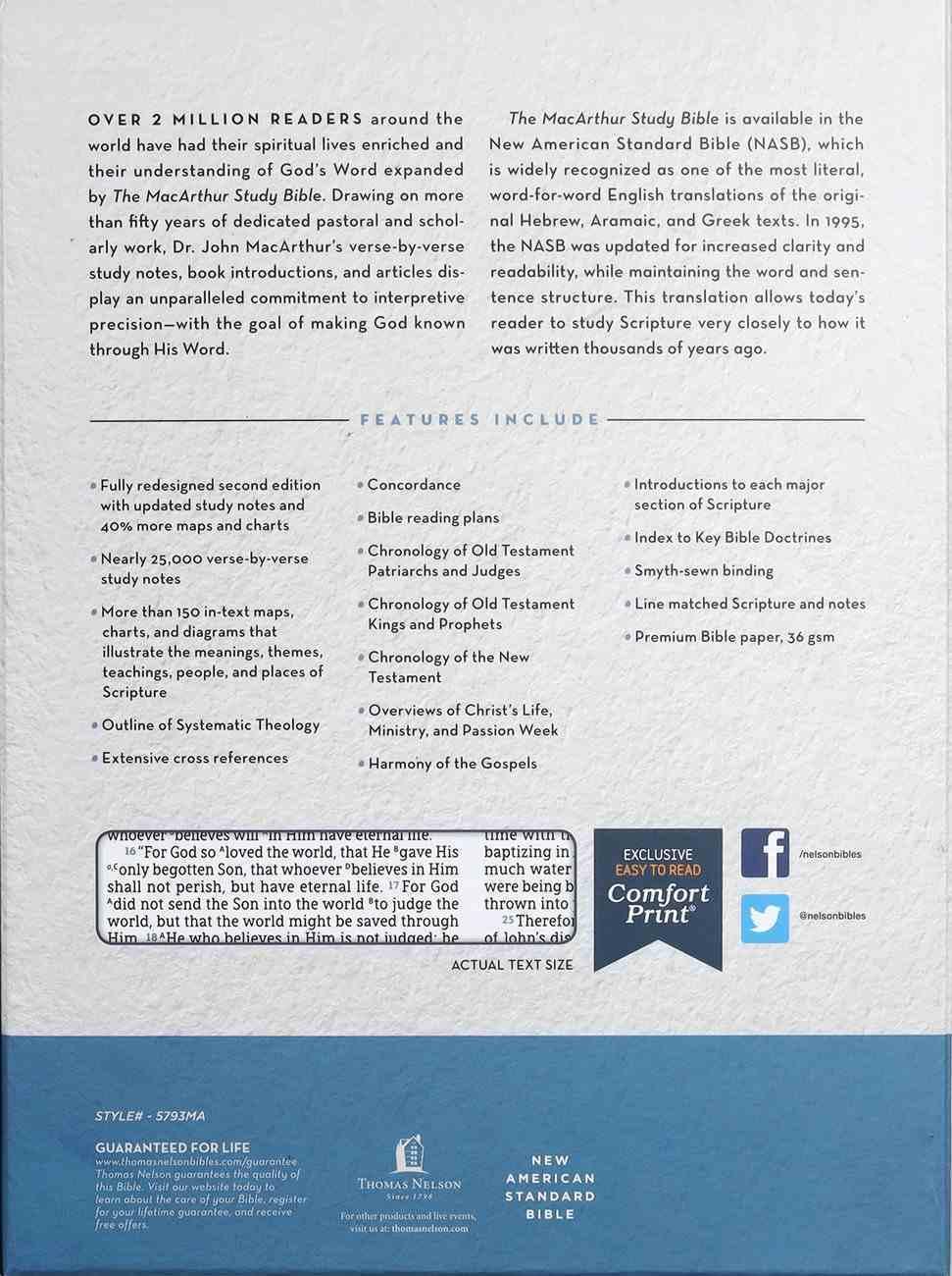 NASB Macarthur Study Bible 2nd Edition Brown Premium Imitation Leather