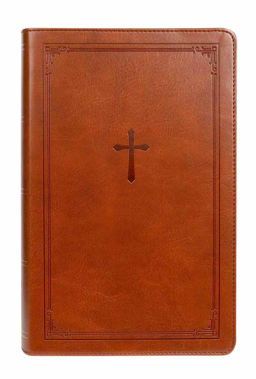 NKJV End-Of-Verse Reference Bible Personal Size Large Print Brown (Red Letter Edition) Premium Imitation Leather