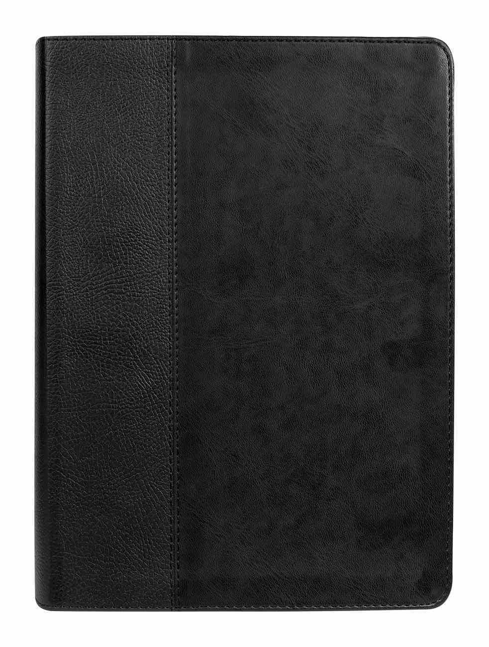 NKJV End-Of-Verse Reference Bible Personal Size Large Print Black Indexed (Red Letter Edition) Premium Imitation Leather