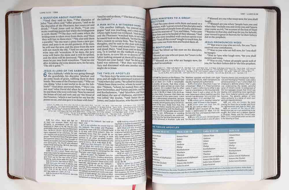 ESV Macarthur Study Bible 2nd Edition Brown (Black Letter Edition) Premium Imitation Leather