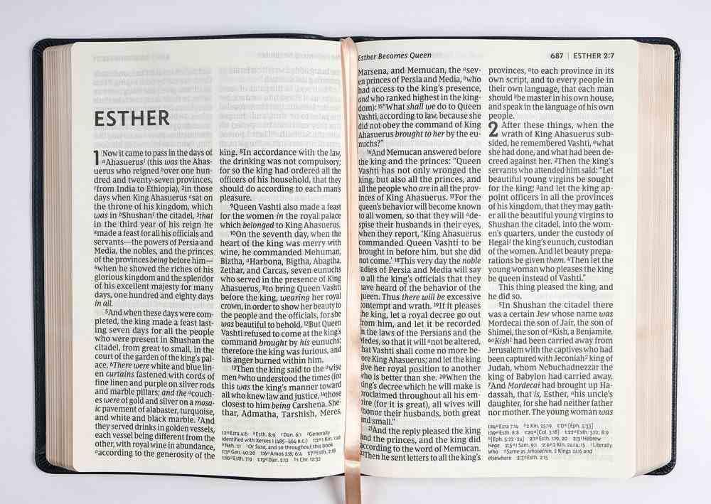 NKJV Reference Bible Super Giant Print Blue (Red Letter Edition) Premium Imitation Leather