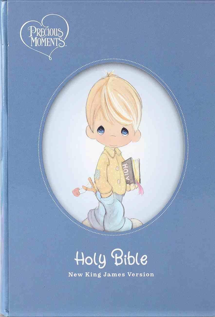 NKJV Precious Moments Small Hands Bible Blue Hardback