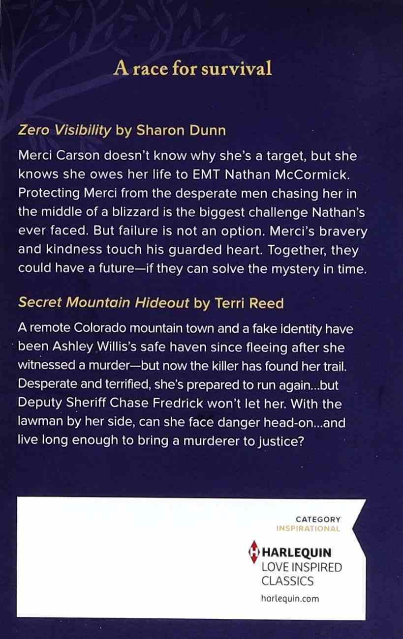 Hidden on the Mountain (Zero Visibility/Secret Mountain Hideout) (Love Inspired Suspense 2 Books In 1 Series) Mass Market