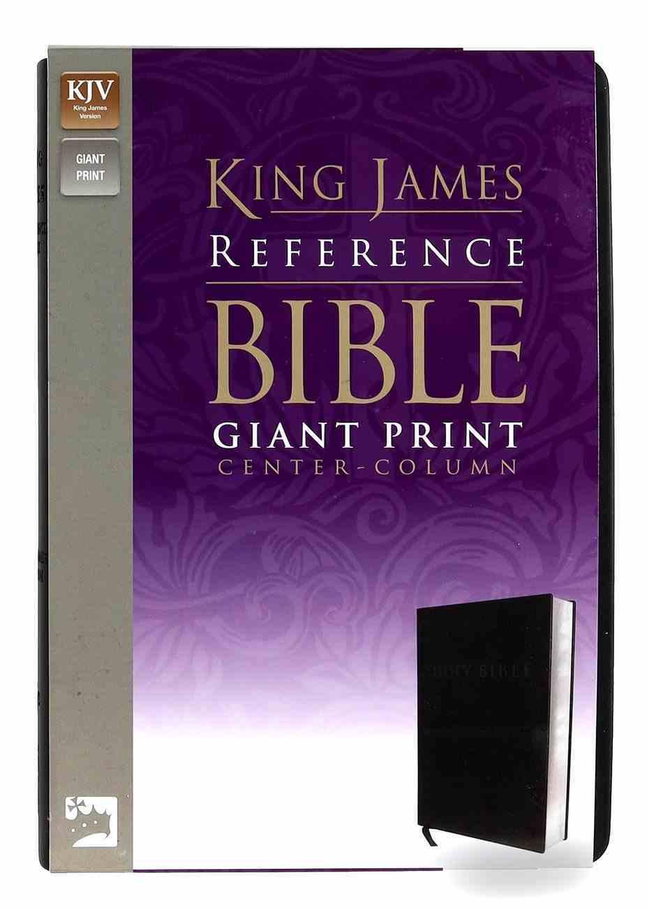 KJV Giant Print Reference Bible Black Premium Imitation Leather